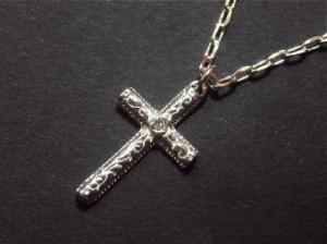 ハワイアンクロスネックレス・メール便(ゆうパケット)なら送料無料・HAWAII・十字架・サーフ・シルバー・N-2-3