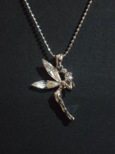 ストーンきらりッ♪ラブリーフェアリーネックレス・メール便(ゆうパケット)なら送料無料・天使・妖精・N-1077