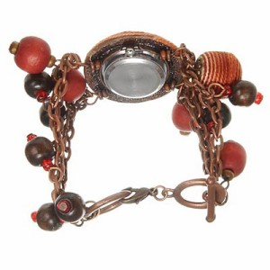【送料無料】ViVi、Scawaiiの読者モデル愛用ウォッチ(腕時計)♪『斬新☆ゴロゴロ木の実ウォッチ』