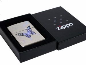 zippoライター 【蝶】レインボーバタフライジッポー■ニッケルミラーRB1-NM