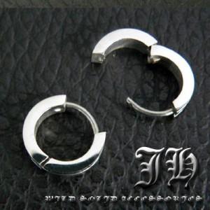 【sp40】小悪魔ピアス♪1個売り!!最高級ステンレスsvピアス!!★ライン/ブラック黒シルバーcolor