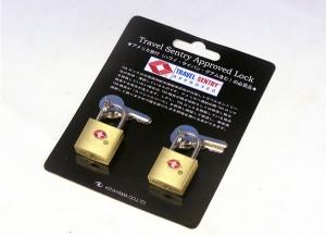 アメリカ旅行の必需品♪TSAロック付き南京錠≪お買い得な2個組≫【クロネコDM便で送料無料】