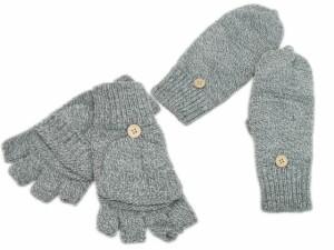 ニットかぶせ付き指なし手袋(男女兼用)