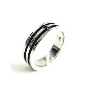 送料無料ララクリスティーオリンピアシリーズのリングが登場♪シルバー925 [ BLACK]R3049