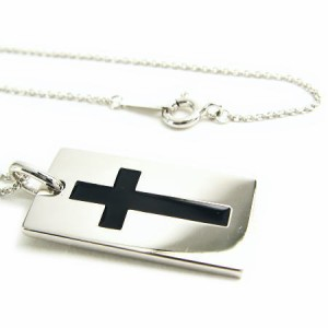 送料無料聖なるクロスが二人の永遠の愛を誓う/ジョーカーネックレス[BLACK]P3155