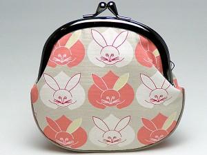 【和柄がま口財布】和柄がま口財布大。大きいサイズが便利です。(色K017)