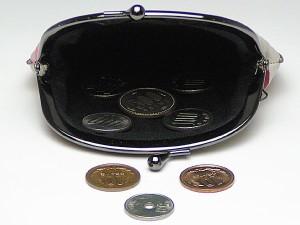 メール便 和柄がま口財布大 小銭入れコインケース メンズレディース日本製 和風おしゃれカジュアルかわいい 大きいサイズ小物入れ(色K020