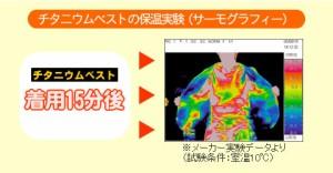 【4,200円で送料無料】体感温度が違う!チタンの蓄熱・保温効果でとっても暖かいベスト『チタニウムベスト』防寒着、インナー