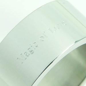 ★刻印リング 太め [11号] ステンレスリング ペアリング ピンキーリング メンズ レディース ペア 指輪 【SR21】
