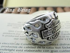 【送料無料】バイカー必見925アクセ■ ハーレーフレア■シルバーSV925/HR/シルバーリング/メンズリング/指輪