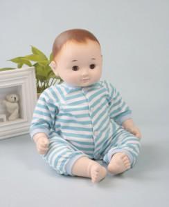 【送料無料!ポイント2%】お座りもできて、スヤスヤ寝んねも♪癒しの赤ちゃん人形『のんちゃん』ぱちぱちタイプ
