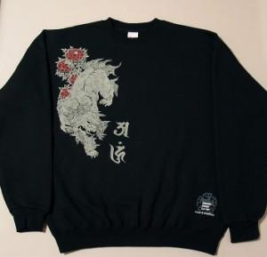 """【6】和柄スエット""""唐獅子牡丹"""""""