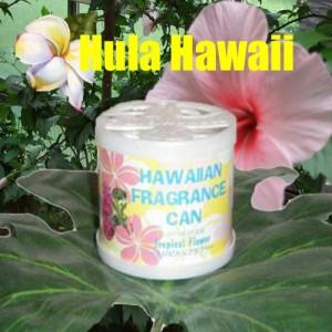 ハワイ雑貨 ハワイアンフレグランス缶 トロピカルフラワー ハワイアン雑貨 通販で人気の香り♪