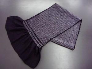 正絹総絞り帯揚げ帯上げ黒 振袖成人式に