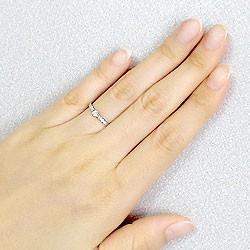 ダイヤモンドリング プラチナ 7石 ダイヤリング Pt900 指輪 ピンキーリング 天然ダイヤモンド0.15ct 送料無料 diaring