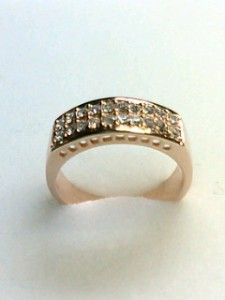 送料無料☆スワロフスキークリスタルを敷き詰めた幅広リング☆PG指輪