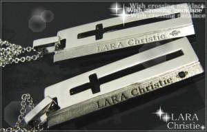 LARA Christie*ララクリスティー ウィッシュクロス ネックレス ペア seP3889