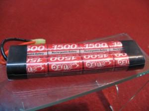 【モケイパドック】 UFC・Ni-MH9.6V1500mahミニバッテリー【op110】