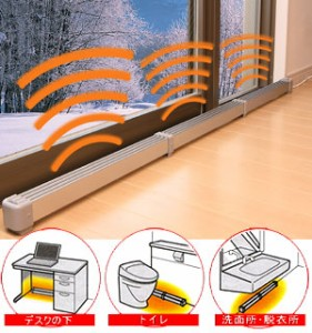 送料無料 NEWマルチヒーター150cm  ZZ-NM1500(ZZ-M1500後継機種)窓際冷気、結露防止に窓際暖房