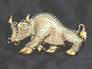【メール便 送料無料】 ベルト バックル バッファロー キュービック付 ゴールドカラー buc-000259 ┃