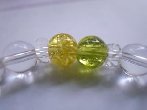 【送料無料】天然水晶&クラック水晶マルチカラー6mm