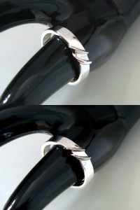 即納 ■juraice■ペアスカルプテシルバー×ブラックシルバーリングjsr01s-bpair