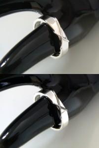 即納 ■juraice■ペアスカルプテシルバー×ブラックシルバーリングjsr02s-bpair
