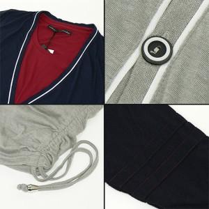 5分袖カーディガン&6分袖Tシャツ重ね着SET