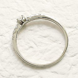 ダイヤモンドリング ハッピー7石 ダイヤリング ホワイトゴールドK18 指輪 18金 ピンキーリング 天然ダイヤモンド0.15ct 送料無料 diaring