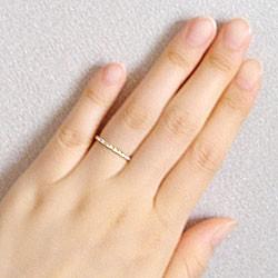 エタニティリング ダイヤリング イエローゴールドK10 指輪 10金 ピンキーリング 天然ダイヤモンド0.10ct 送料無料/diaring
