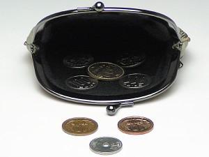 【和柄がま口財布】和柄がま口財布大。大きいサイズが便利です。(色K021)