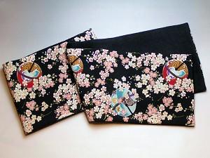 和柄ちりめんフリースマフラー日本製 レディースメンズ秋冬 おしゃれかわいい 暖かい軽いショールストール 和服着物にも(色86)