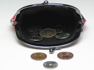 【和柄がま口財布】和柄がま口財布大。大きいサイズが便利です。(色K019)
