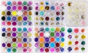 150種類 ネイルアートBOXセット♪ブリオン・ラメ・パール・押花・フォログラム♪ジェル・スカルプに♪