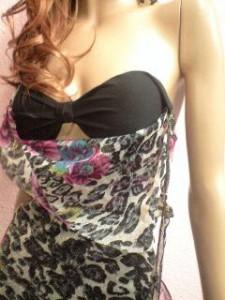 DIVA☆落ちないキラキラゴールドラメ薔薇柄&和柄豹柄♪脚すけスペシャルアニマルドレープホルターネックロングドレス【DRE9B04】