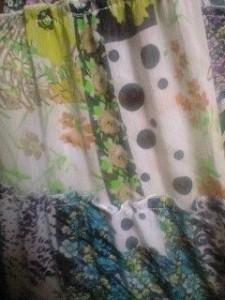 上質素材♪豹柄,ゼブラ,ダルメシアン,花柄シフォンロングスカート 【BOTS9A7】レトロ エスニック