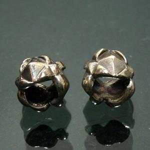 ダイヤ型デザインシルバーパーツ 2個セット