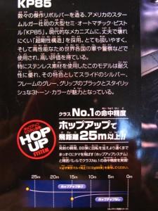 【遠州屋】 モデル KP85 HOP-UP エアガン (10歳以上) 東京マルイ (市/R)★