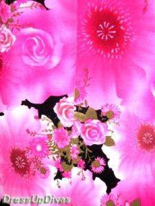 韓国製高級アシメフリルホルター花和柄ロングドレス【DRE9A12】