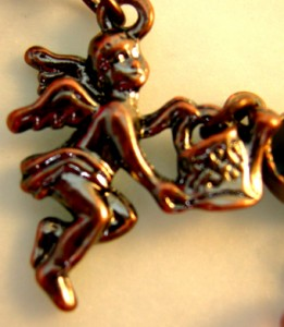天使の祝福アールヌーヴォーネックレス蝶蜻蛉妖精アンティークパーツフェアリーエンジェルコスチュームジュエリーアナスイート
