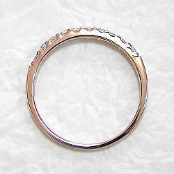 エタニティリング ダイヤリング ピンクゴールドK18 指輪 18金 ピンキーリング 天然ダイヤモンド 0.20ct 送料無料 diaring