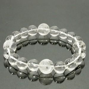◆風水・四神獣手彫り水晶12mm玉◆ 19.5cm 水晶(クリスタル)ブレスレット (メンズLサイズ)