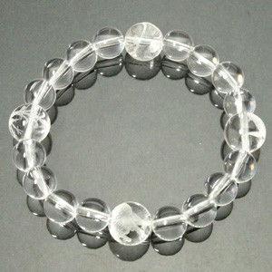 ◆風水・四神獣手彫り水晶10mm玉◆ 16cm 水晶(クリスタル)ブレスレット (レディースSサイズ)