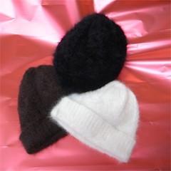アンゴラ ニットキャップ (ニット帽) basiquenti