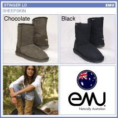 エミュー スティンガーロー シープスキンブーツ 2008年モデル ラスト:チョコレート/22cm (W5)(emu STINGER LO)