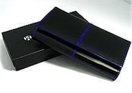 レア・希少品◆最新作◆DIABLOディアブロ男性用高級長財布★青★馬革(コードバン)  【送料無料】