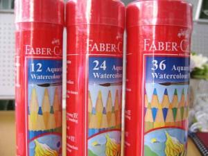 水彩色鉛筆丸缶24色セット・筆付・FABER-CASTELL/ファーバーカステル/TFC-115924【シャチハタ】