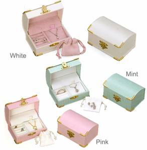 手のひらサイズの可愛いミニ宝石箱!ミニ巾着袋付きロマンティックジュエリーケース|宝石箱|ジュエリーボックス|宝石ケース|送料無料
