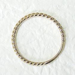 ツイストリング ひねり線 イエローゴールドK18 地金指輪 18金 ピンキーリング スパイラルリング 究極ring