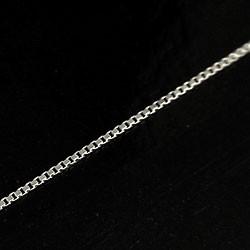 チェーン ベネチアンチェーンネックレス ホワイトゴールドK10 40cm 10金